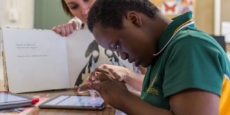 Nonverbal child learns to speak in classroom with Proloquo2Go app augmentative and alternative communication strategies