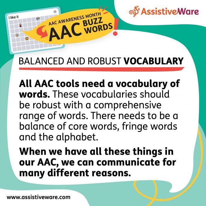 Balanced and robust vocabulary