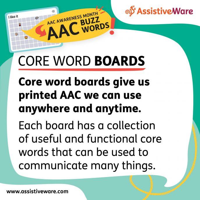 Core word boards