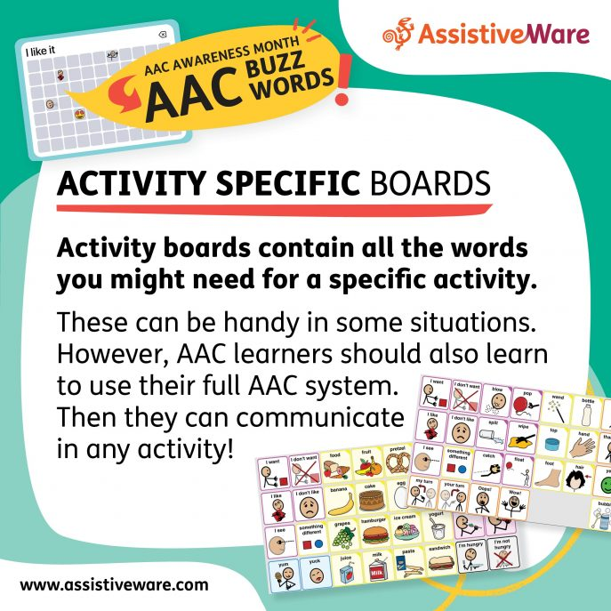 Activity specific boards