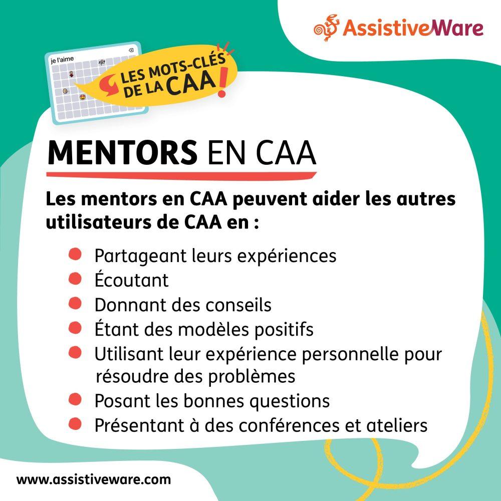 Les mentors de CAA