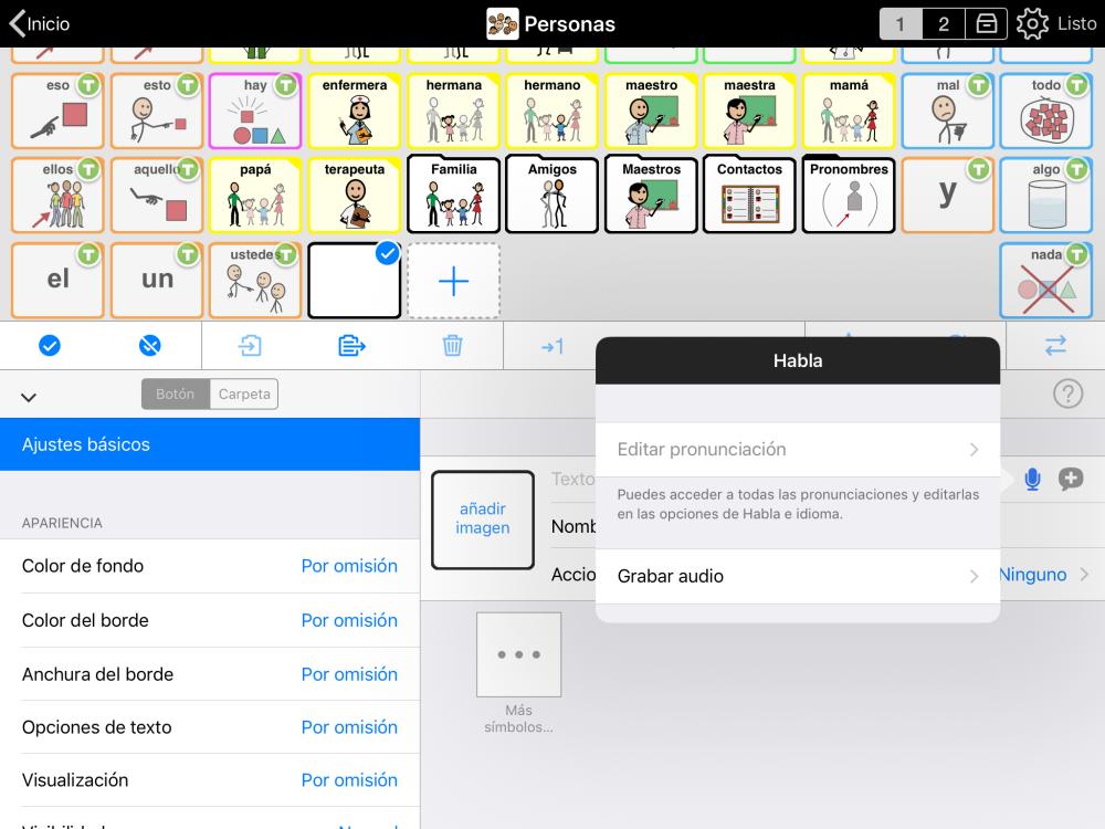 Captura de pantalla de Grabar audio en el modo Edición