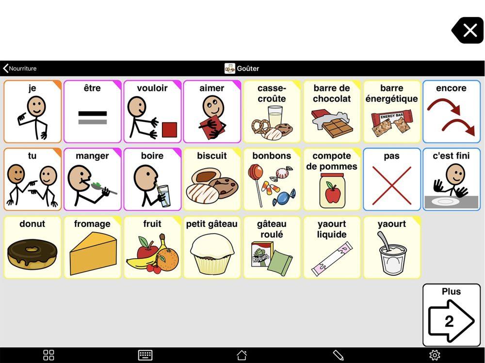 Capture d'écran du Premier niveau du dossier Nourriture