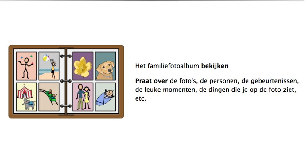 Het familiefotoalbum bekijken