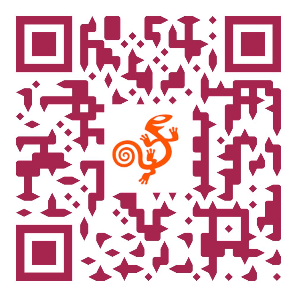 Código QR con un enlace al sitio web de AssistiveWare