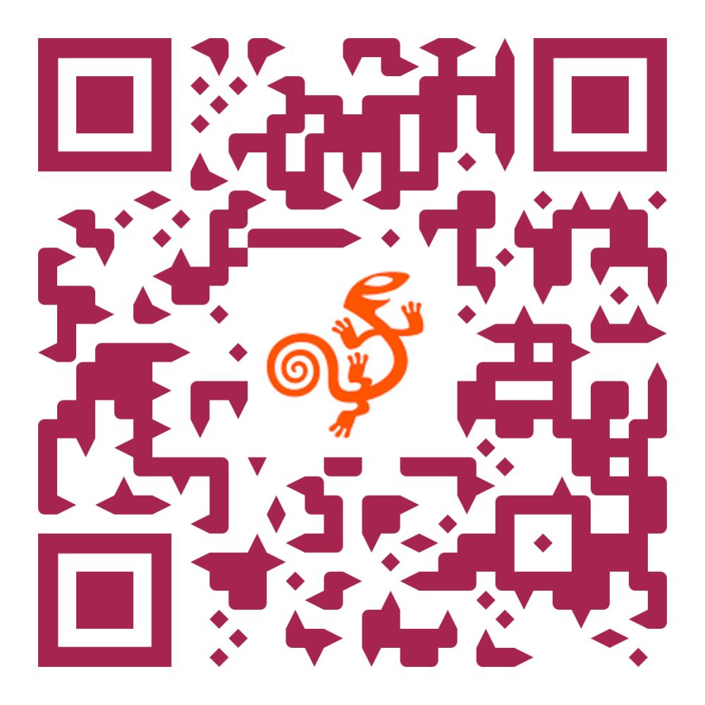 QR code met link naar AssistiveWare's website