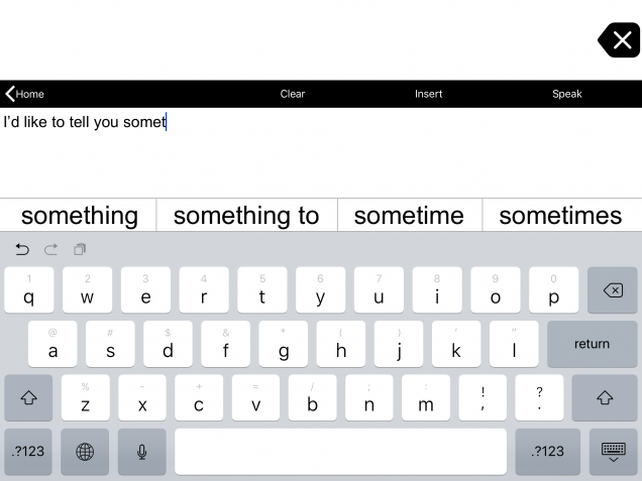 Typing View keyboard