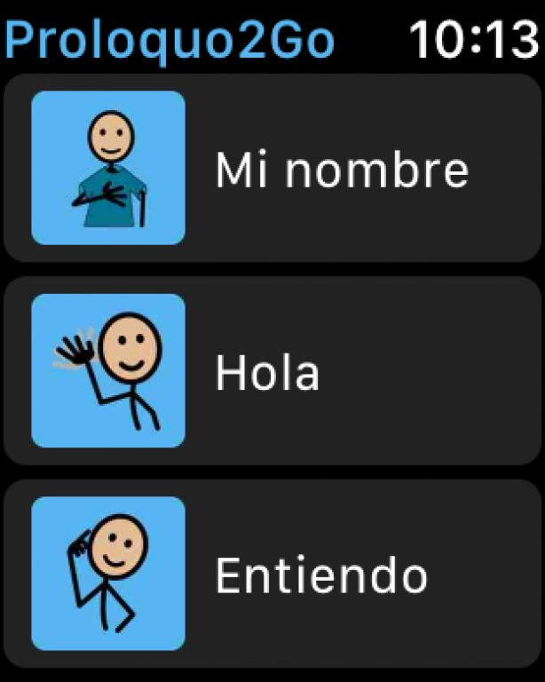 Pantalla frases en Apple Watch