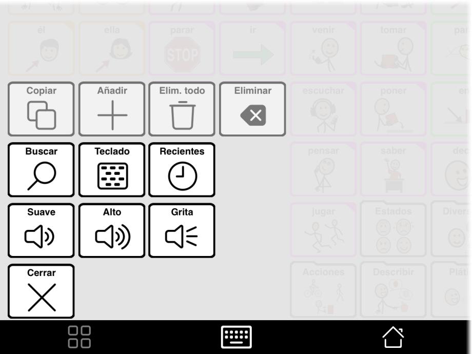 Ventana emergente del cuadro de herramientas con botón Explorar activado
