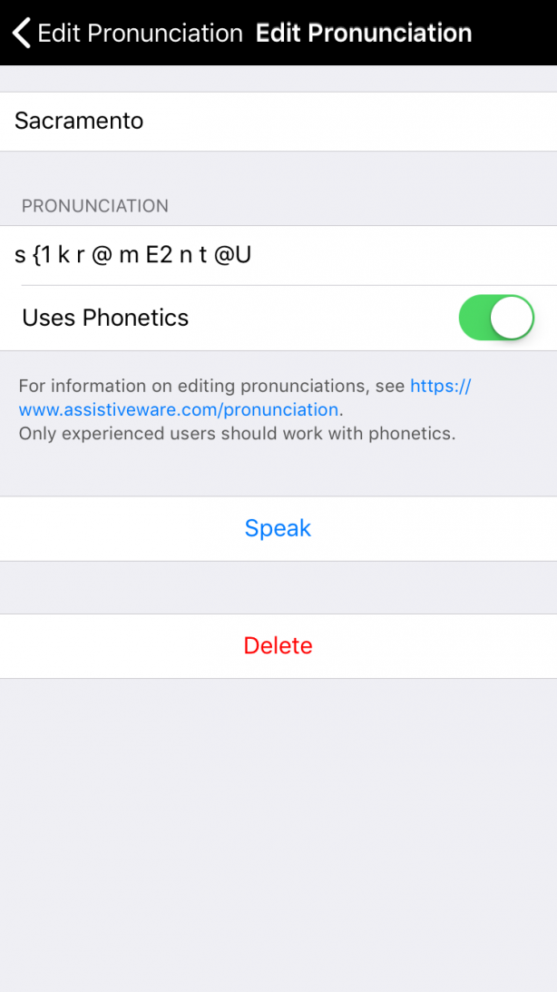 Pronunciation of word changed using phonetic codes