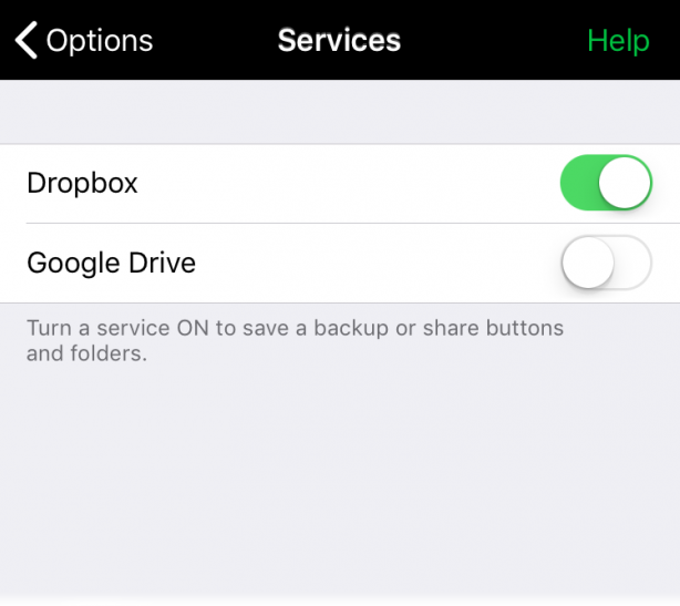 Share buttons and folders between devices - AssistiveWare