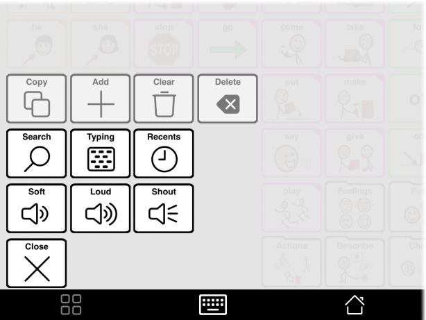 Tools popup showing language change button