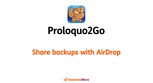 Share Backups With Airdrop video