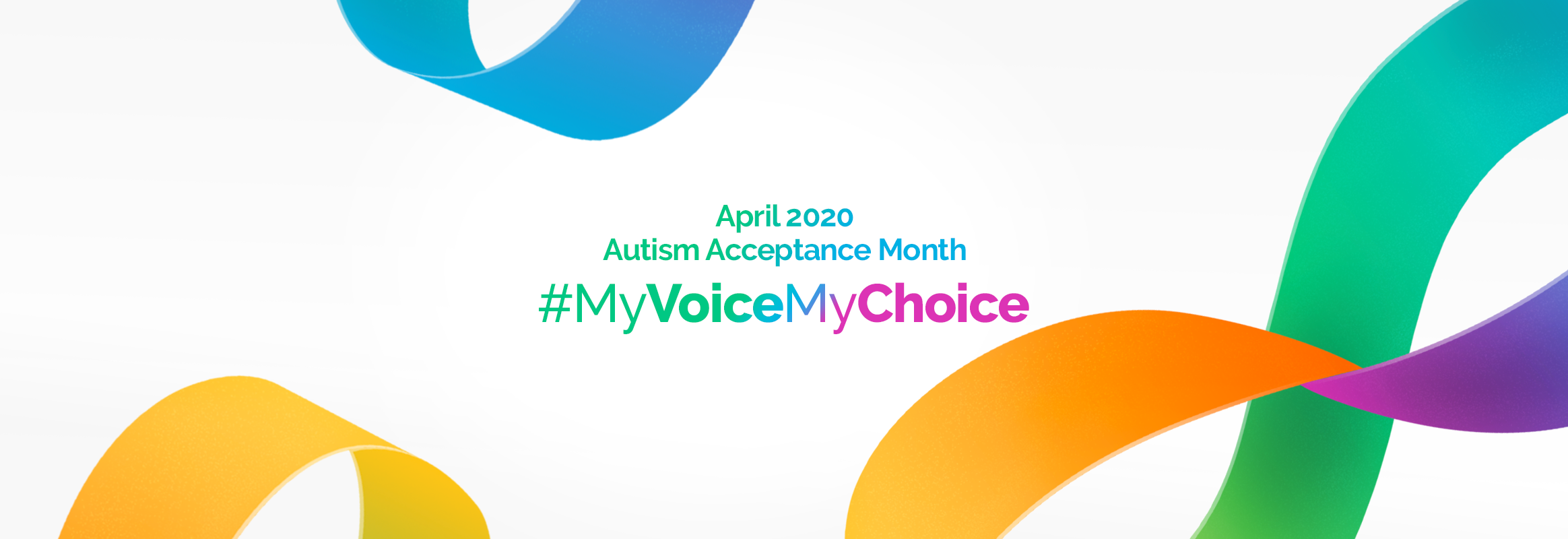 Autism Acceptance Month Rainbow Ribbon My Voice My Choice