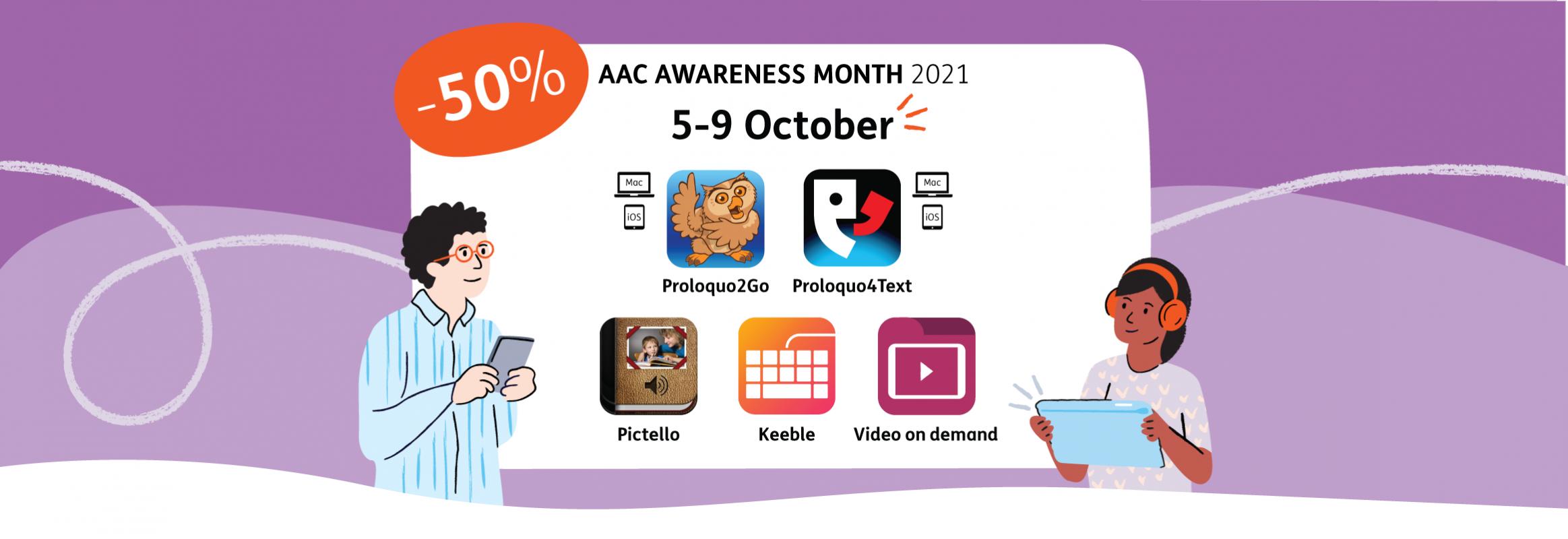 AAC Awareness Month 2021 discount