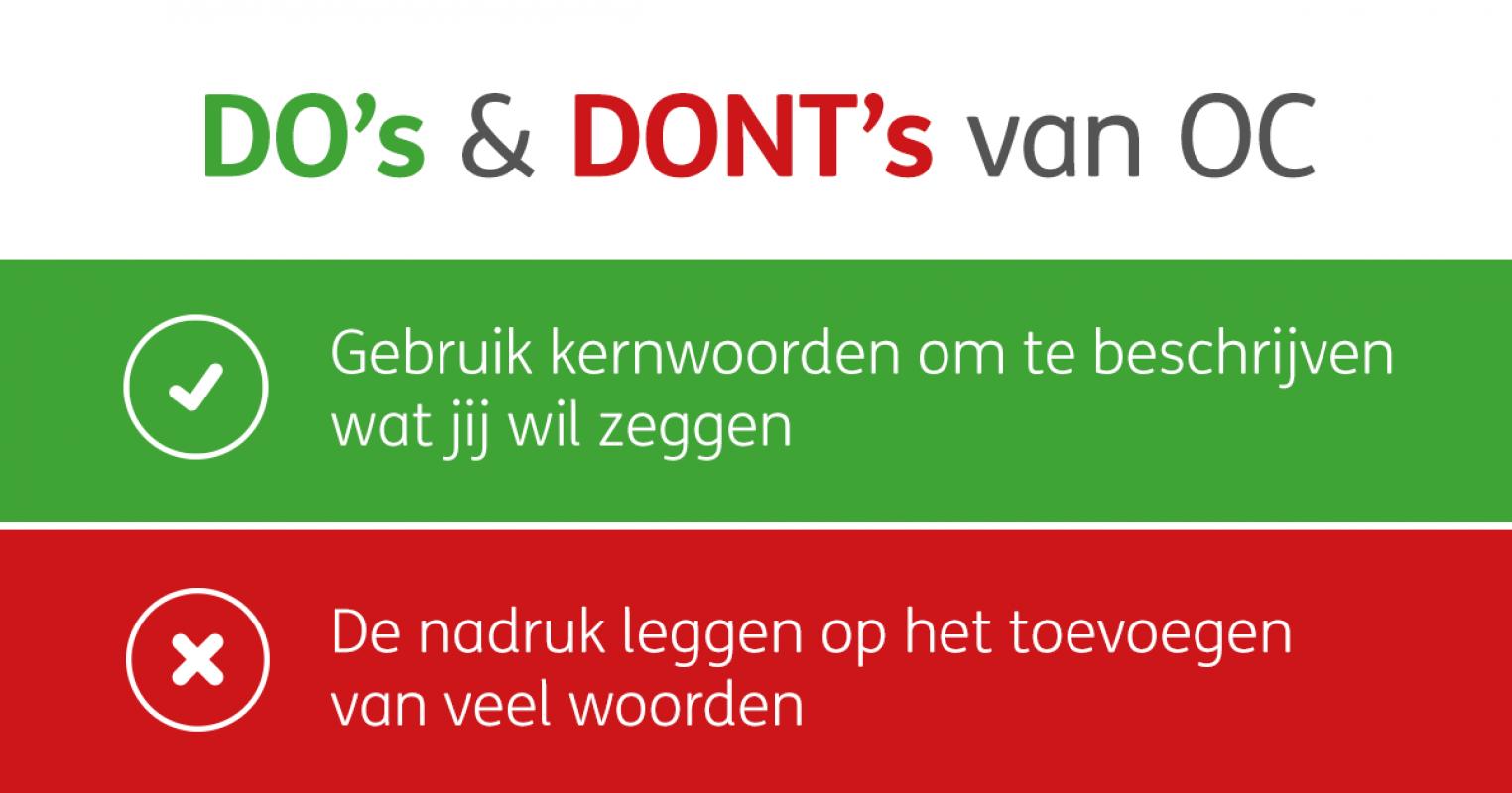 Do's & Don'ts van OC