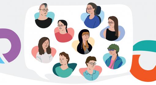 Illustrations d'une variété d'utilisateurs CAA