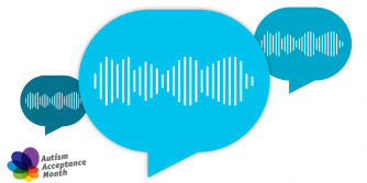 Speech bubbles with sound graphics