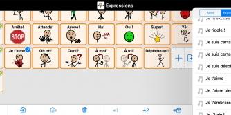 Exemple d'expressions dans Proloquo2Go