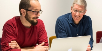 Tim Cook with Jose Perez and David Niemeijer