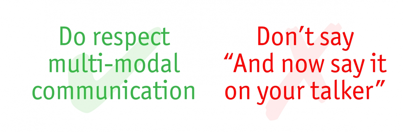 Do's and Don'ts Multi Modal Communication