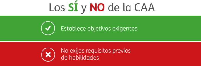 SÍ y NO de la CAA - No exijas requisitos previos