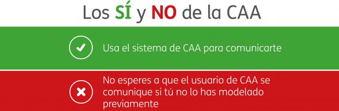 Los SÍ Y NO de la CAA. Usa el sistema de CAA para comunicarte. No esperes a que el usuario se comunique si tú no lo has modelado previamente.