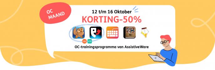 OC Maand Korting 50% 12 t/m 16 Oktober