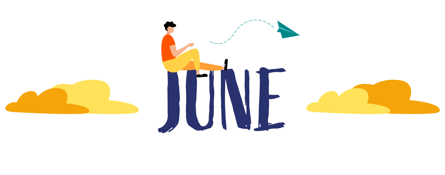 "Illustration with text ""June"""