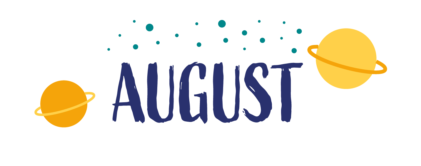 "Illustration with text ""August"""