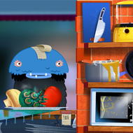 Toca boca kitchen monsters app screenshot