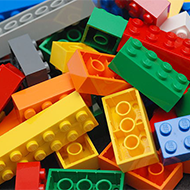 Pile of colorful legos