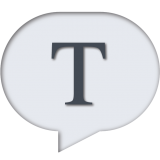 The letter T in a speech bubble