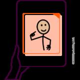 Icône la CAA à base de pictogrammes