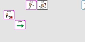 Proloquo2Go met scherm waarbij symbolen zijn weggelaten