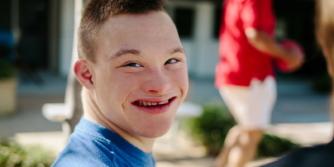 Tom Graham - Teenage boy looking at the camera